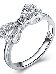 cheap -Women's Ring 1pc Silver Silver-Plated Alloy Daily Jewelry Cat Butterfly Cute