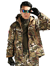 cheap -Men's Hunting Jacket Outdoor Thermal / Warm Windproof Wearproof Comfortable Spring Fall Winter Camo Terylene Camouflage Gray Army Green Camouflage