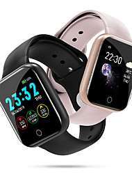 cheap -Couple's Smartwatch Digital Stylish Fashion Heart Rate Monitor Digital Black Pink Silver / One Year / Silicone
