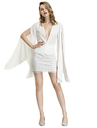 cheap -Women's 1920s Loose Flapper Dress - Solid Colored The Great Gatsby Deep V White S M L XL