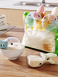 cheap -Duck Rice Shovel Rice Measuring Spoons Measuring Cup Cereals Rice Bags Sealing Clip Water Spoon Kitchen Gadgets