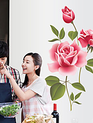 Недорогие -ay7156 романтический розовый цветок розы дома фон украшения съемный стикер