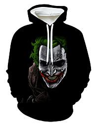 cheap -Men's Casual / Halloween Hoodie - 3D / Skull / Tie Dye Black US36 / UK36 / EU44