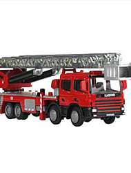 cheap -KDW Metal Alloy Fire Engine Vehicle Fire Truck Toy Truck Construction Vehicle Toy Car Retractable Simulation Fire Engine Boys' Girls' Kid's Child's Car Toys Gift