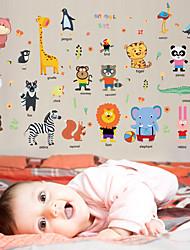 Недорогие -hm92025 милые животные наклейки наклейки детская комната спальня кабинет холодильник фон украшения съемные наклейки