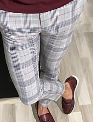 cheap -Men's Street chic Chinos Pants - Plaid / Checkered Yellow Red Gray US32 / UK32 / EU40 US34 / UK34 / EU42 US38 / UK38 / EU46