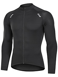 cheap -Men's Long Sleeve Cycling Jersey Winter Black Bike Jersey Pants Top Mountain Bike MTB Road Bike Cycling Breathable Quick Dry Back Pocket Sports Clothing Apparel / Advanced / Expert / Stretchy