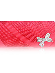 cheap -Women's Bow(s) / Crystals Silk Evening Bag Solid Color Red