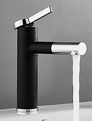 cheap -Bathroom Sink Faucet - Pullout Spray Black Centerset Single Handle One HoleBath Taps