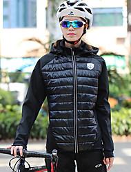cheap -Mountainpeak Women's Cycling Jersey Cycling Jacket Winter Fleece Polyester Spandex Bike Winter Fleece Jacket Top Breathable Warm Quick Dry Sports Black Mountain Bike MTB Clothing Apparel Bike Wear