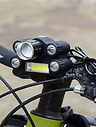 Недорогие -Светодиодная лампа Велосипедные фары Передняя фара для велосипеда огни безопасности Велоспорт Велоспорт Портативные Регулируется Прочный Легкость Литиевая батарея 500 lm Батарея Белый