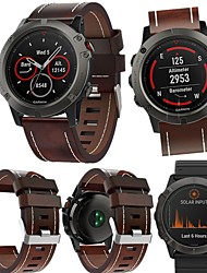 cheap -Smartwatch Band for Garmin Descent Mk1/ Tactix / Fenix3 High-end Leather Loop Genuine Leather Band Wrist Strap 26mm