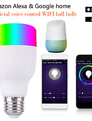 cheap -11W Magic RGB WiFi Voice Contro LED Bulb E27 WiFi Smart Light Bulb Compatible Alexa Google Saving Lamp Dropship