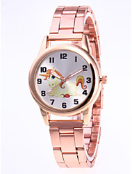 cheap -Women's Quartz Watches Cartoon New Arrival Silver Gold Rose Gold Stainless Steel Chinese Quartz Rose Gold Gold Silver Cute New Design Casual Watch 1 pc Analog One Year Battery Life