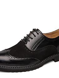 cheap -Men's Comfort Shoes PU Winter Oxfords Black / White
