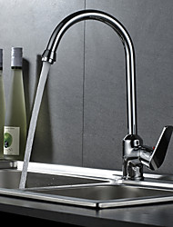 cheap -Kitchen faucet - Single Handle One Hole Chrome Standard Spout / Tall / High Arc Free Standing Contemporary Kitchen Taps