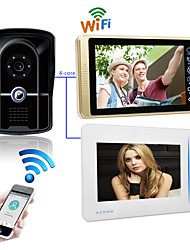 cheap -LITBest Wired & Wireless 7 inch Hands-free 1024*600 Pixel One to Two video doorphone