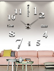 cheap -Wall Clock,Modern Contemporary Stainless steel Irregular Indoor