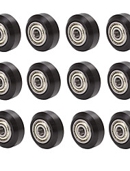cheap -Plastic Pulley Wheel with Bearing Idler Pulley Gear Perlin Wheel for 3D Printer 10 pcs/lot DIY kit Parts Original