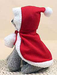 cheap -Dog Costume Bandanas & Hats Christmas Solid Colored Cosplay Christmas Christmas Winter Dog Clothes Puppy Clothes Dog Outfits Red Costume for Girl and Boy Dog Cotton S M L