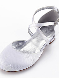 cheap -Girls' Heels Flower Girl Shoes Princess Shoes Lace Little Kids(4-7ys) Big Kids(7years +) Party & Evening White Champagne Ivory Spring Summer