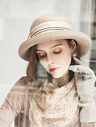 cheap -100% Wool Hats with Satin Bowknot / Crystals / Rhinestones 1pc Casual / Daily Wear Headpiece