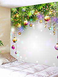 cheap -Holiday Wall Decor 100% Polyester New Year's Wall Art, Wall Tapestries Decoration