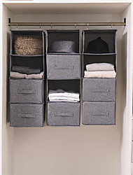 cheap -Simple Houseware 4 Shelves Hanging Closet Organizer