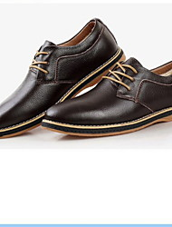 cheap -Men's Comfort Shoes Patent Leather Spring & Summer Sneakers Booties / Ankle Boots Black / Brown / Blue