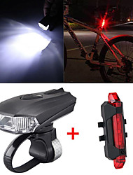cheap -LED Bike Light Rechargeable Bike Light Set Front Bike Light Rear Bike Tail Light Mountain Bike MTB Bicycle Cycling Waterproof Smart Induction Adjustable Quick Release 800 lm Rechargeable USB Cold
