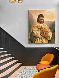 cheap -Framed Art Print Framed Set - People Religious PS Oil Painting Wall Art