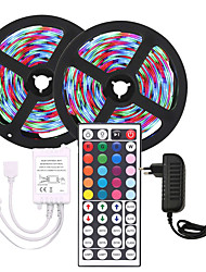 cheap -KWB 10m Flexible LED Strip Lights Light Sets RGB Tiktok Lights 600 LEDs SMD3528 8mm 1 44Keys Remote Controller 1 X 12V 3A Power Supply Christmas New Year's Waterproof Cuttable Party