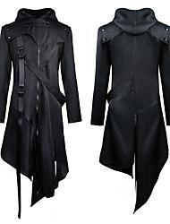 cheap -Plague Doctor Retro Vintage Steampunk Coat Masquerade Tuxedo Men's Costume Black Vintage Cosplay Party Halloween Long Sleeve