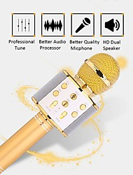 cheap -Professional Bluetooth Wireless Microphone Speaker Handheld Microphone Karaoke Mic Music Player Singing Recorder KTV 1800Mah