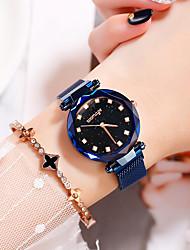 halpa -Naisten Quartz Synteettinen timantti Vapaa-aika Muoti Musta Hopea Violetti Metalliseos Kiina Quartz Musta Ruusukulta Purppura Itsestään valaiseva pimeässä jäljitelmä Diamond 30 m 1 kpl Analoginen