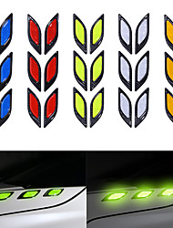 cheap -6PCS/Set Car Truck Sticker Reflective Strips Night Safety Warning Reflector Tape Anti-collision Decorative Stickers Car Styling