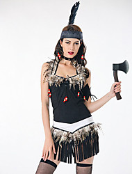 cheap -Indian Girl Adults Women's Cosplay Ethnic & Interracial Dress Headpiece Outfits For Party Halloween Polyester Halloween Carnival Masquerade Dress Headband