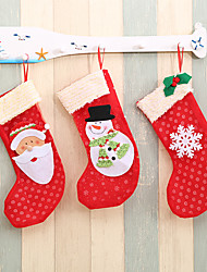 cheap -Santa Snowman Snowflakes Pendant Ornaments New Year Socks Christmas Decorations For Home Merry Christmas Tree Decorations-3Pcs