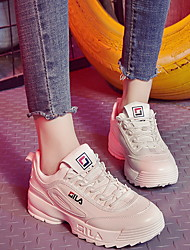 cheap -Women's Athletic Shoes Flat Heel Round Toe Canvas Winter White