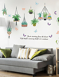 cheap -SK9329 hanging basket potted fresh Nordic modern bedroom window cabinet door living room porch restaurant decorative wall stickers