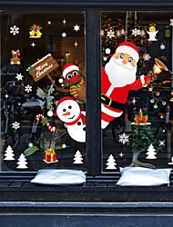 cheap -SK9241 Santa Claus Elk Snowman Gift Gift Snowflake Window Glass Background Decoration Removable Sticker