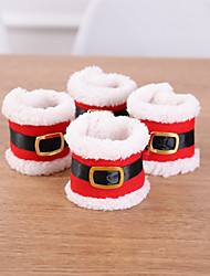cheap -Holiday Decorations Christmas Decorations Christmas Ornaments Decorative Red 4pcs
