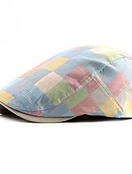 cheap -Men's Unisex Basic Polyester Beret Hat-Color Block All Seasons Light Blue Blushing Pink Red