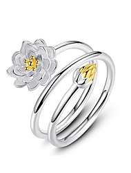 abordables -2020 nouvelle collection authentique fleur floral empilable bague cz couleur or lotus émail plata bijoux