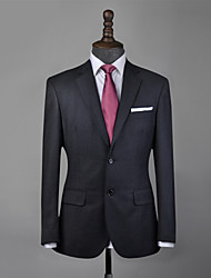 cheap -Charcoal gray wool custom suit