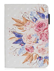cheap -Case For Apple iPad Mini 3/2/1 / iPad Mini 4 / iPad Mini 5 with Stand / Flip / Pattern Full Body Cases Flower PU Leather
