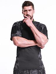 cheap -Men's Daily T-shirt - Color Block Black