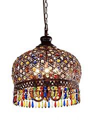 Недорогие -QIHengZhaoMing 3-Light 35 cm Подвесные лампы Металл Окрашенные отделки Традиционный / классический 110-120Вольт / 220-240Вольт