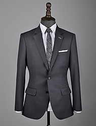 cheap -Dark gray wool custom suit