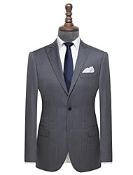 cheap -The gray herrringbone wool custom suit